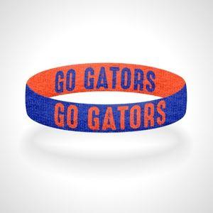 Reversible Florida Go Gators Bracelet Wristband